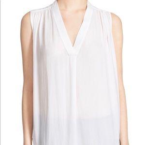 Shirred Shoulder Sleeveless Top - VINCE.